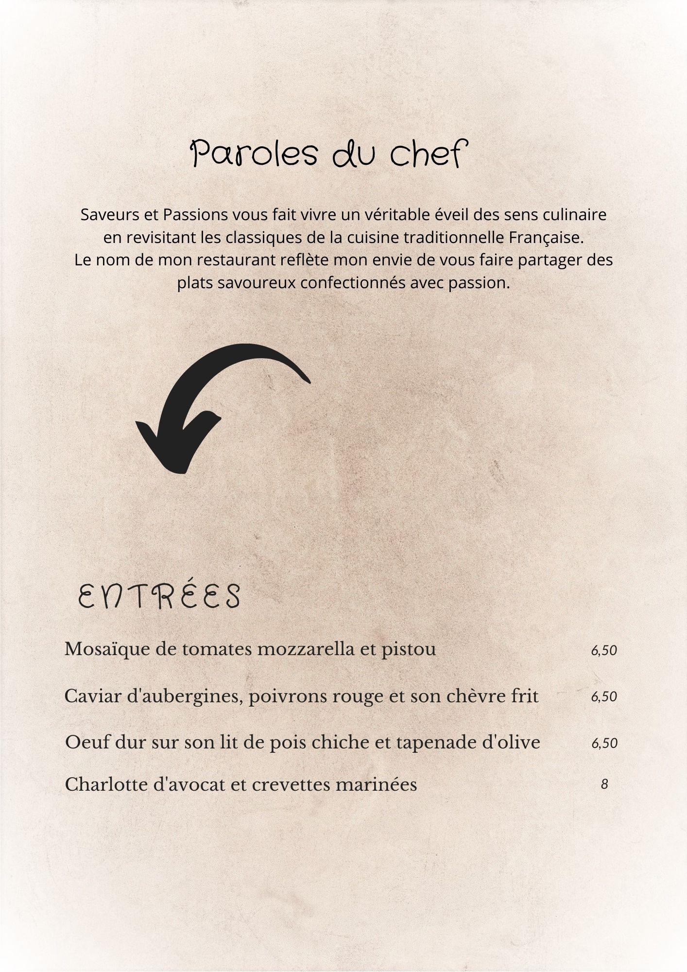 carte restaurant taverny