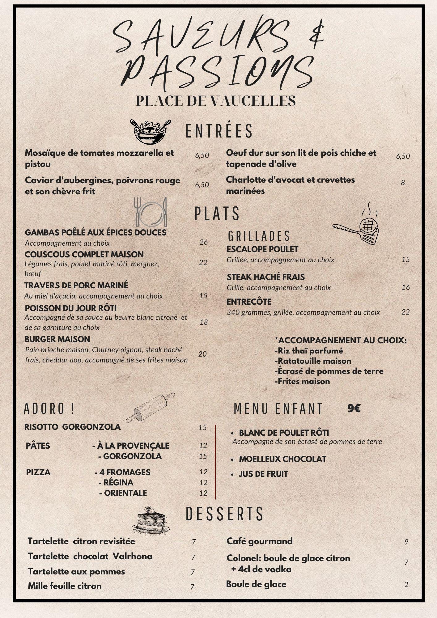 Saveurs passions restaurant taverny